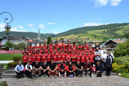 AC Milan Camp in Asiago Mountain Plateau