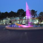 Lignano Sabbiadoro fountain lights
