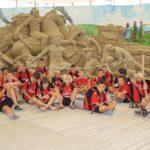 Sand castles in Jesolo Venice seaside