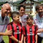 Filippo Galli with boys at AC Milan Camp Cortina d'Ampezzo