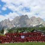 AC Mailand Fußballcamp im Cortina D'Ampezzo, Alpen (Belluno)