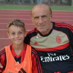 Pierino Prati with boy at AC Milan Camp jesolo