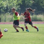 Girls at AC Milan soccer Camp Jesolo