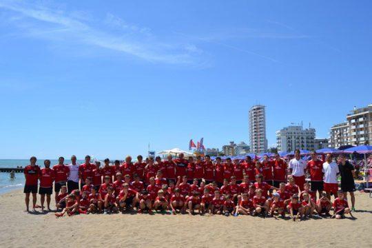 Jesolo Venedik sahilinde AC Milan Kampı